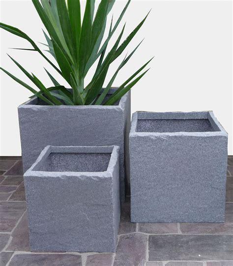 plastic stone  cube planters  potstorecouk