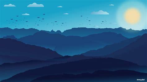 vector landscape speedart adobe illustrator youtube