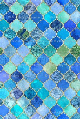 aqua teal mint and gold oriental moroccan tile pattern cobalt blue and aqua decorative moroccan tiles with gold
