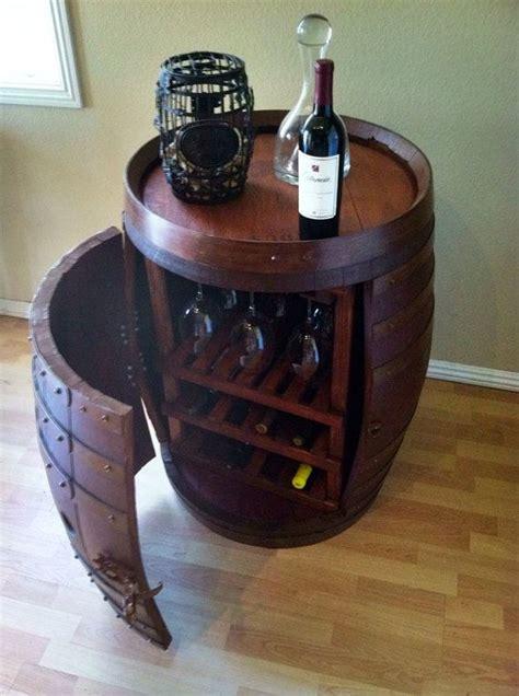wine barrel storage wine barrel with wine and glass storage old end