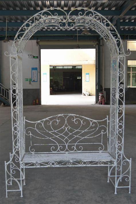 banc arche en fer forg 233 patin 233 blanc antique demeure et