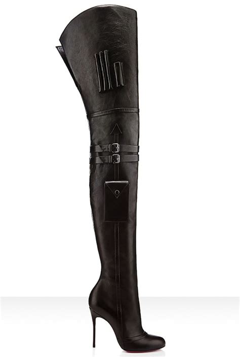 christian louboutin sea nn thigh high boots capsule