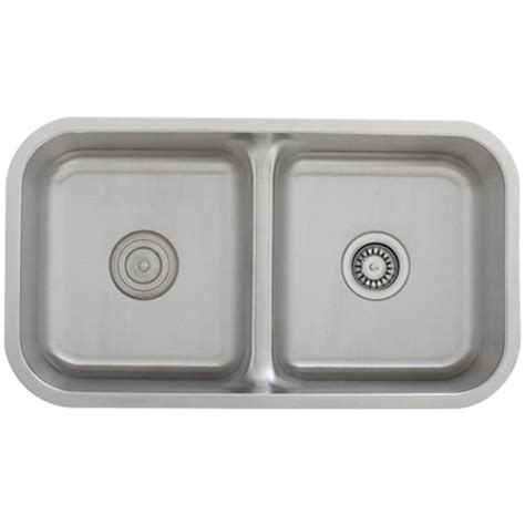 low divide stainless steel sink ticor s1210 low divide undermount 16 stainless steel