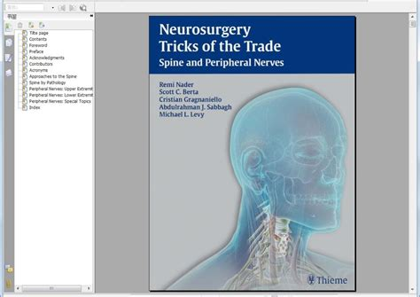 Trick Of The Trade by Neurosurgery Tricks Of The Trade Spine And Peripheral Nerve