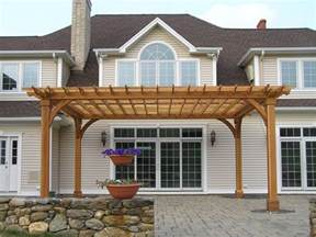 Pergola Span Table by Large Cedar Pergola On Cedar Deck Pictures To Pin On Pinterest