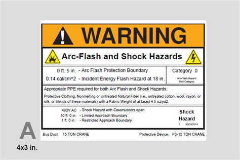 Arc Flash Label Printer Satu Sticker Arc Flash Label Template