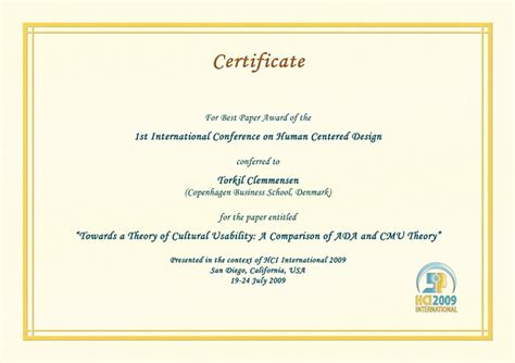 international conference certificate templates hci international