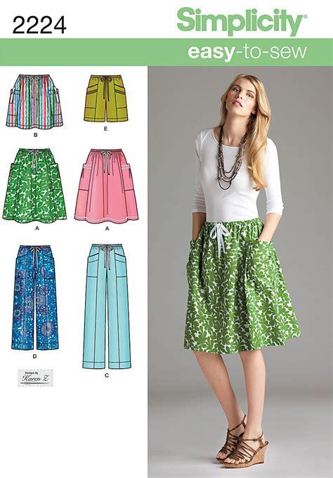 shorts pattern pinterest simplicity misses skirt pants or shorts 2224 sewing