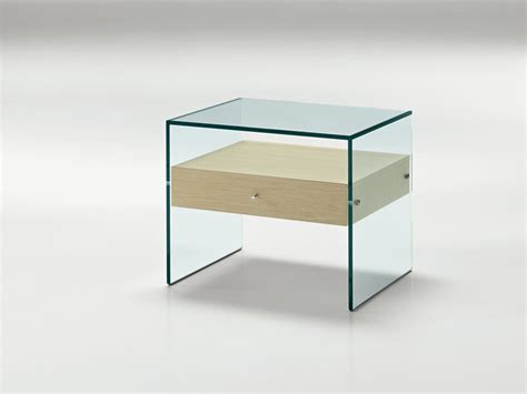 table de nuit verre glass bedside table secret by tonelli design