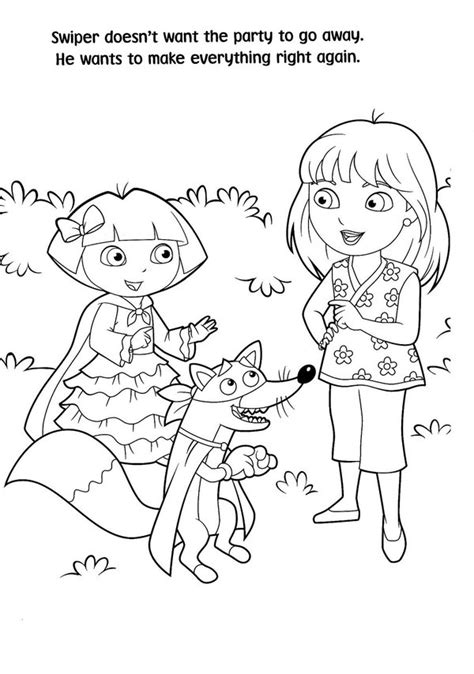 coloring pages dora in the city printable coloring pages dora and friends into the city