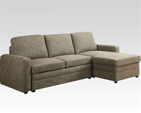 linen sectional acme furniture linen sectional sofa derwyn ac51645
