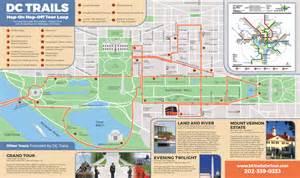 Washington Dc Tour Map by Tours Map Dc Trails