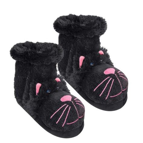 fuzzy slipper boots 123 best cat slippers images on crib shoes