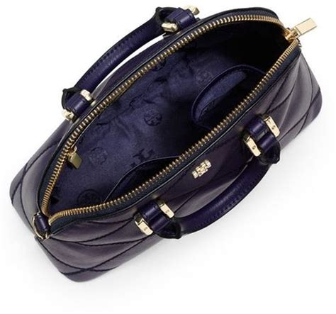 Burch Robinson Stitched Mini Dome Satchel Navy Import Quality burch robinson stitched mini dome satchel in blue