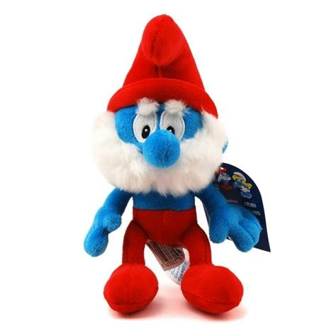 soft cuddly toy puppy the smurfs papa smurf 20cm 755229