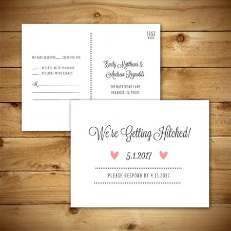 rsvp card template printable wedding rsvp response card template