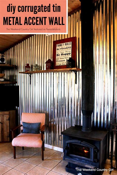 metal accent wall diy corrugated tin wall tutorial remodelaholic bloglovin