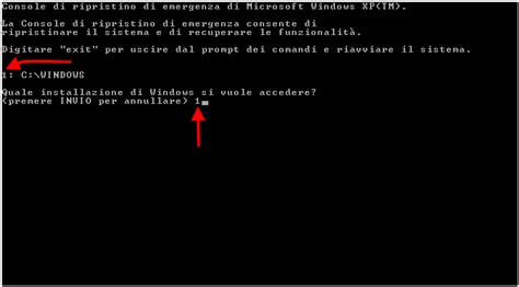 console di ripristino windows 7 la console di ripristino recovery console di windows xp