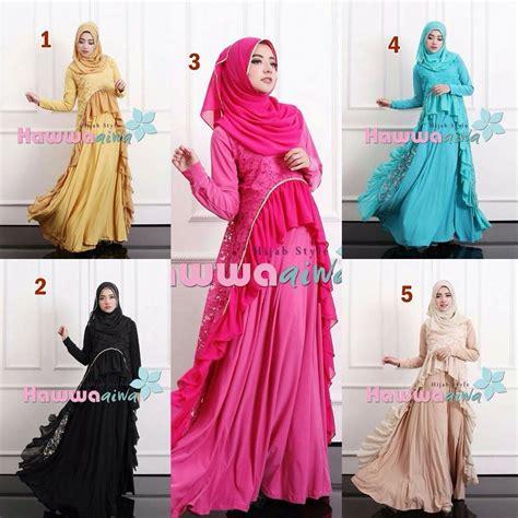 Gaun Gamis Terbaru Gaun Model Gamis Pesta Muslim Brokat Lubella Hawwa Aiwa