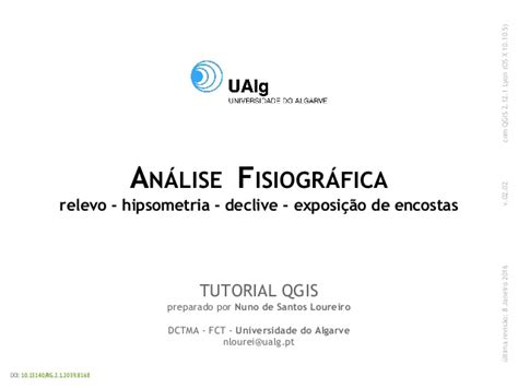 qgis tutorial ppt tutorial qgis sobre an 225 lise fisiogr 225 fica