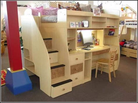 bunk bed with desk plans loft bed with desk underneath plans bedroom home