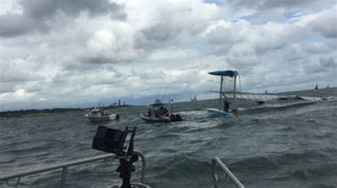 catamaran boat capsizes 5 rescued after catamaran capsizes of jamestown wjar