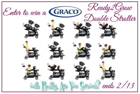 Double Stroller Giveaway - enter to win a graco ready2grow double stroller giveaway