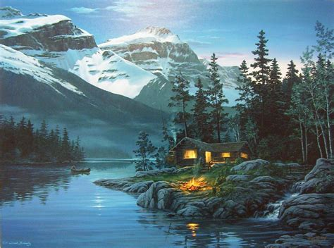 Cabins In The Rocky Mountains by Rocky Mountain Hideway Cabin Calm Evening Lake