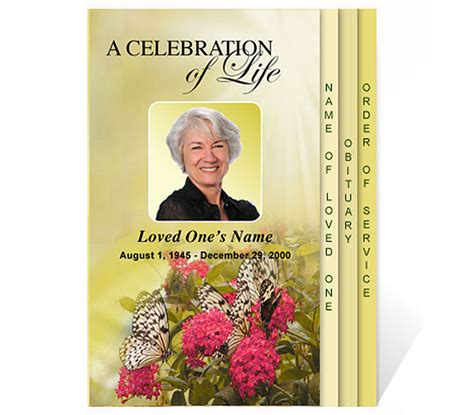 free celebration of templates new funeral program templates are now available at the