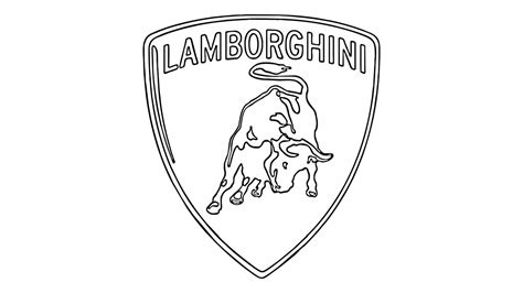 lamborghini logo black and white how to draw the lamborghini logo symbol