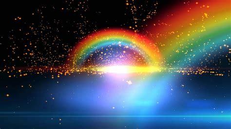 beautiful double rainbow spiritual realm animation