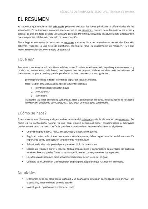 En Resumen by El Resumen Y Ejemplos
