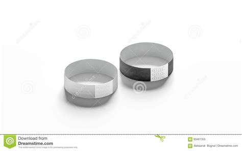 Blank Black And White Paper Wristband Mockup Stock Image Image 93461355 Event Wristband Template