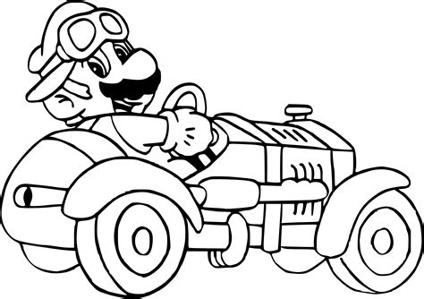 Wii U Coloring Pages by Coloriage Mario Kart 7 224 Imprimer