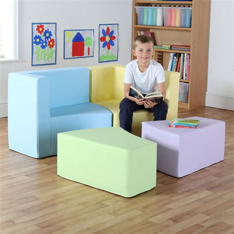classroom sofa transform seating with m link pastel colours