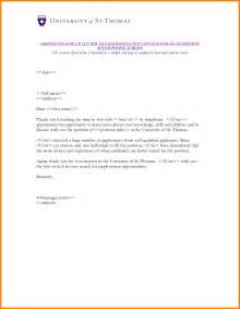 Rejection Letter Employment Offer Letter Sle Rejection Rejection Letter Sle For Candidates Rejection