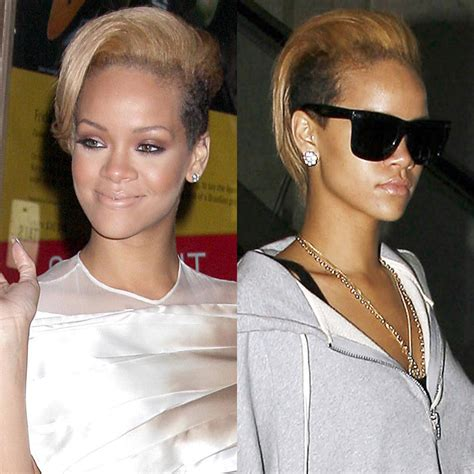 regardez la nouvelle coupe de cheveux de rihanna