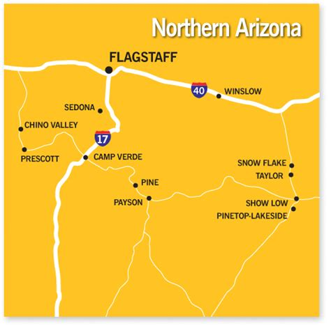 map of northern arizona communities and cities in northern arizona realty