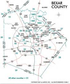 bexar county san antonio map