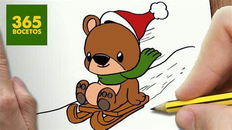 dibujos de navidad paso a paso como dibujar un para navidad paso a paso dibujos kawaii navide 241 os how to draw a