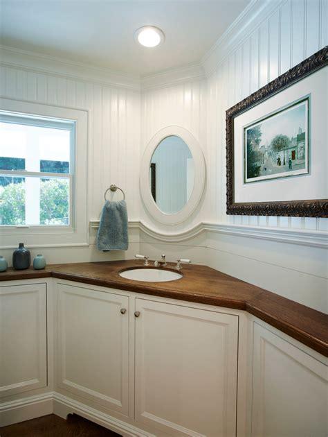 Bathroom Double Vanity Ideas corner vanity sink spaces transitional with cherry vanity
