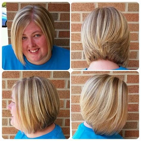 one length thick chunky bob inverted bob straight hair or wavy hair thick hair
