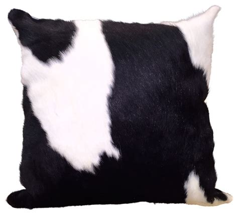 Cowhide Pillow - cowhide pillow black and white southwestern decorative