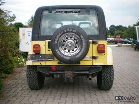 Jeep 4 0 Engine Specs 1991 Jeep Wrangler Yj 4 0 4x4 Green Sticker Car Photo