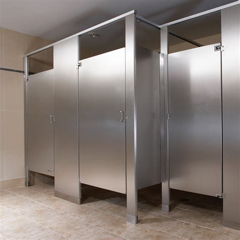 bathroom partition panels stainless steel partitions bradley corporation