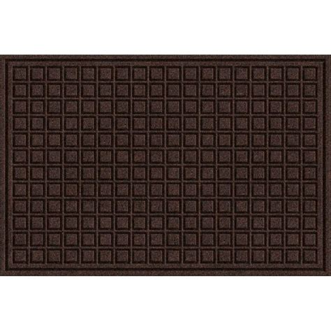 Brown Rubber Door Mat Trafficmaster Brown 24 In X 36 In Synthetic Surface And