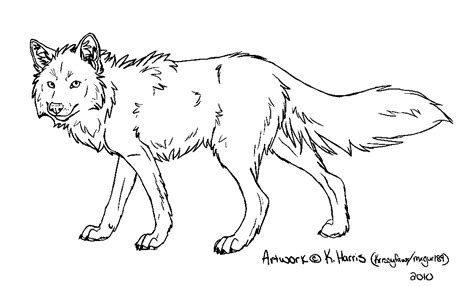 wolf template by krissyfawx on deviantart
