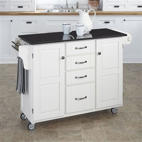 kitchen island casters shop home styles 52 5 in l x 18 in w x 35 75 in h white