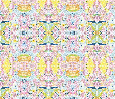 flower doodle fabric flower doodles fabric hazelandvivi spoonflower