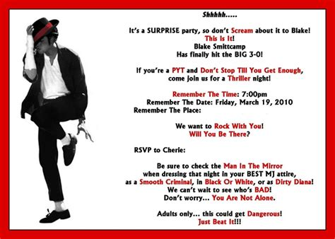 printable michael jackson birthday cards michael jackson birthday invitations ideas bagvania free
